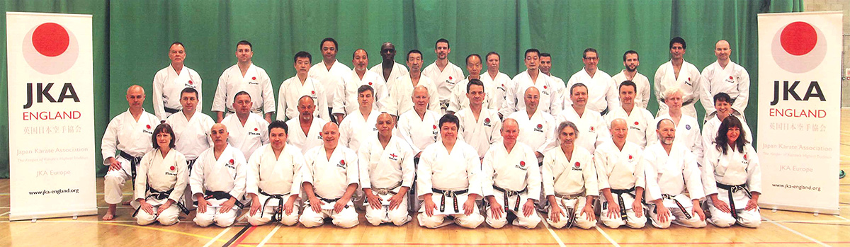 Sensei Martin with other JKA England Instructors at the Crawley International Course