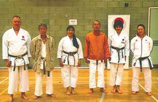 Sensei Martin with the Visiting Instructors and Shahinaz and Patrick of SLSKC