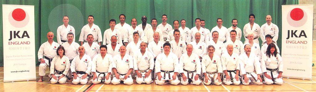 Sensei Martin Dobson with other JKA Instructors