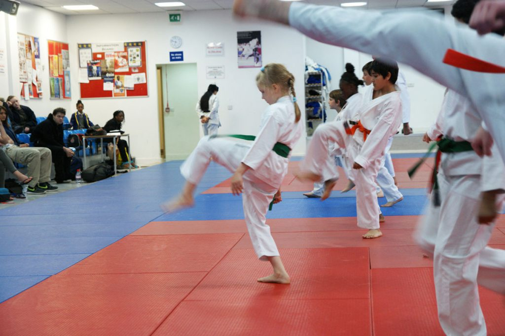 Student Training at South London Karate Club
