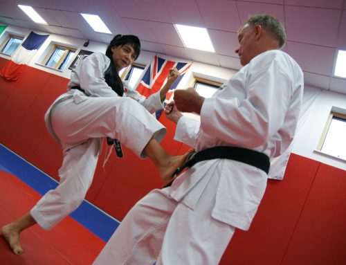 Two New Black Belts at the Crawley International Course