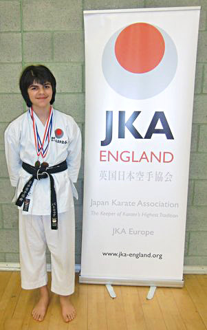 Patrick Pelter won gold for Kata and bronze for Kumite at the Lewisham Club Competition