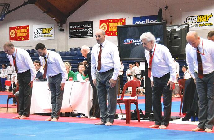 (Sensei Martin Left) JKA EUROPEAN CHAMPIONSHIPS DUBLIN