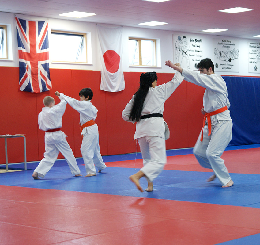Students Sparring at South London Karate Club