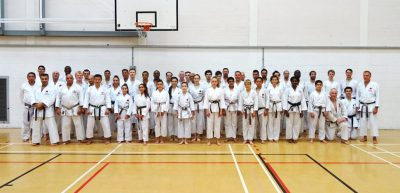 July 2018 Sensei Martin at the East London Club for their summer grading and training session