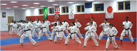 Training at the Tooting Dojo