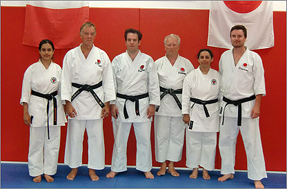 Duarte with some of the Back Belts and instructors of SLSKC