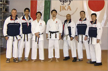 Some of the JKA Instructors at the Hungary Joint Training camp in Budapest