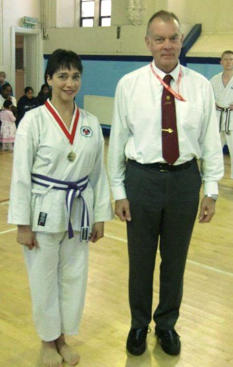 Shahinaz Pelter won Gold in both the kata and kumite women's event
