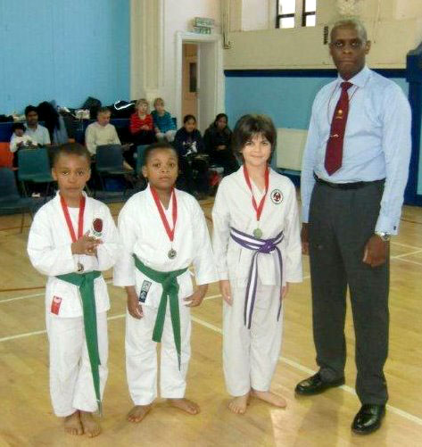 Patrick Pelter won the Gold medal in the Junior kata and Silver in the kumite
