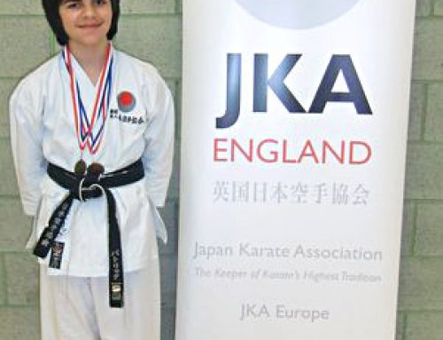 Patrick Wins Gold for Kata and Bronze for Kumite at the Lewisham Club Competition