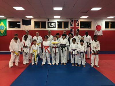 Members of South London SKC and Ethos Karate Club following the Kyu Grading on 5th December 2017